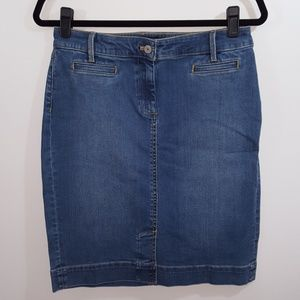 NWT Talbots denim skirt 6P